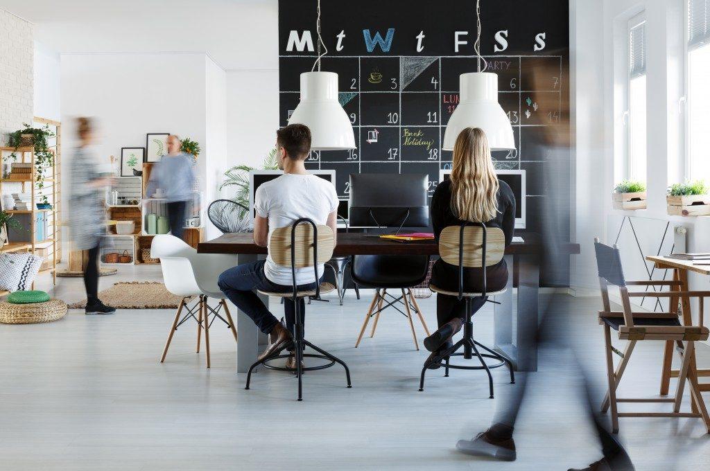 Modern coworking space interior