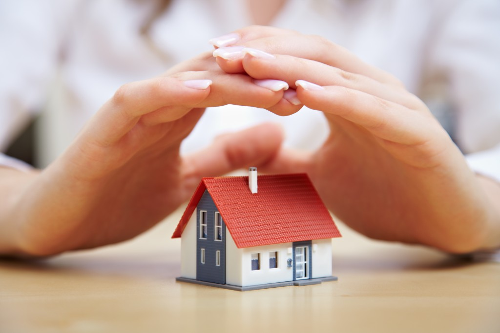 Hand over small house model