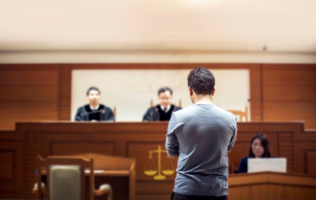 a man during bail hearing