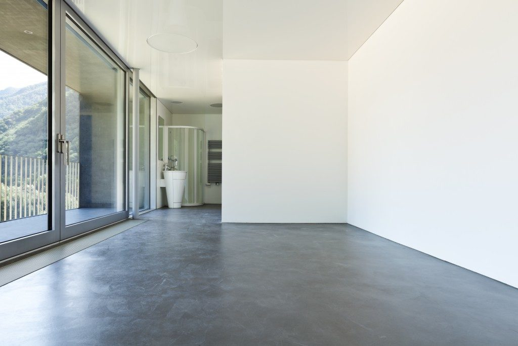 house with concrete floor