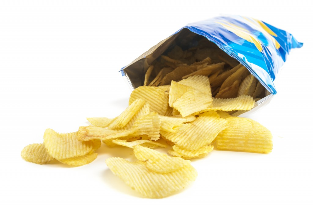 chips bursting from package