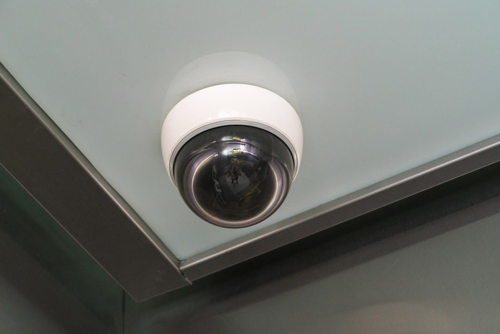 security camera installed inside the apartment building