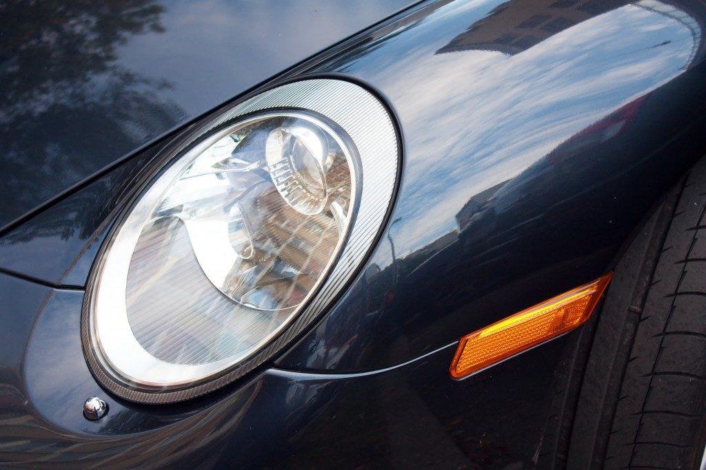 LED headlights of a car