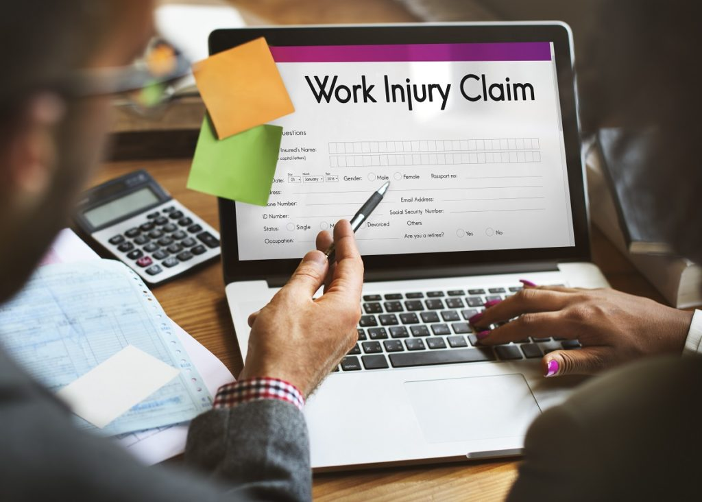 worker filling up for injury claim