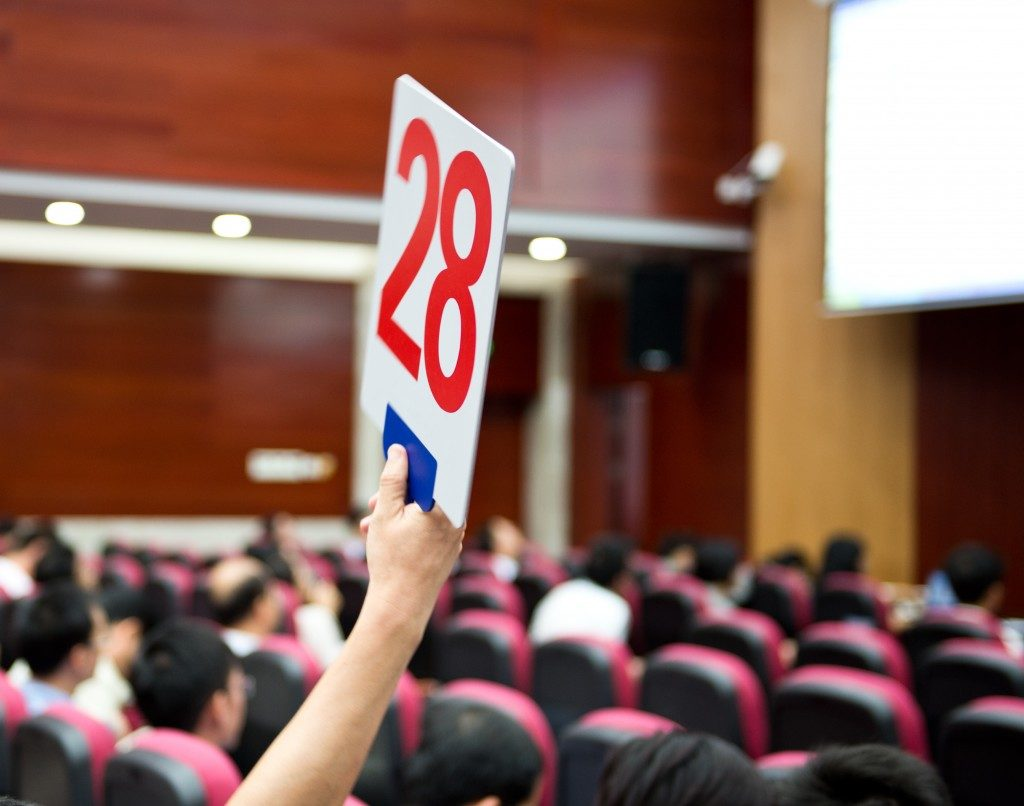 Number raised at auctions
