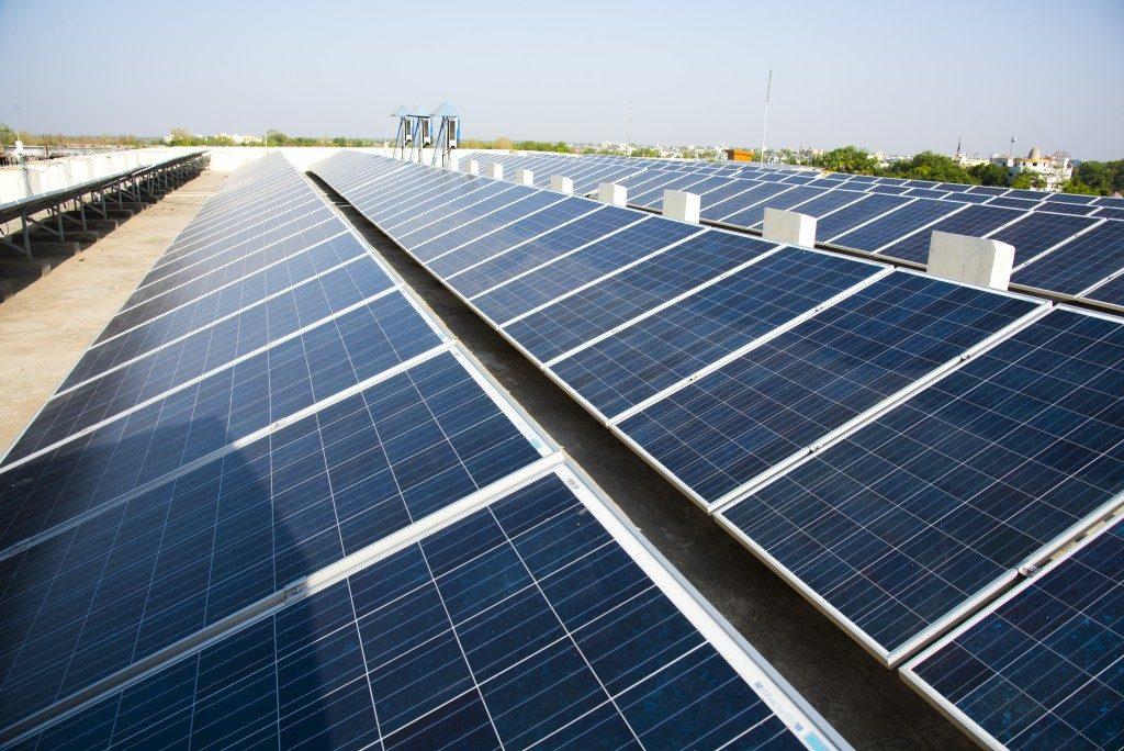 using solar panels