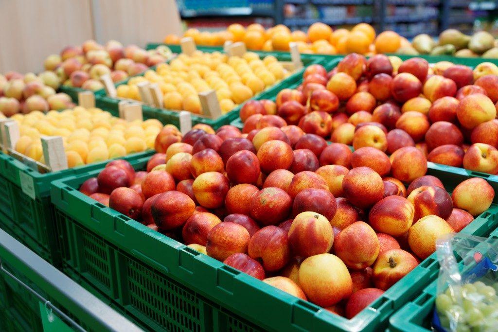 Bin storage for fruits