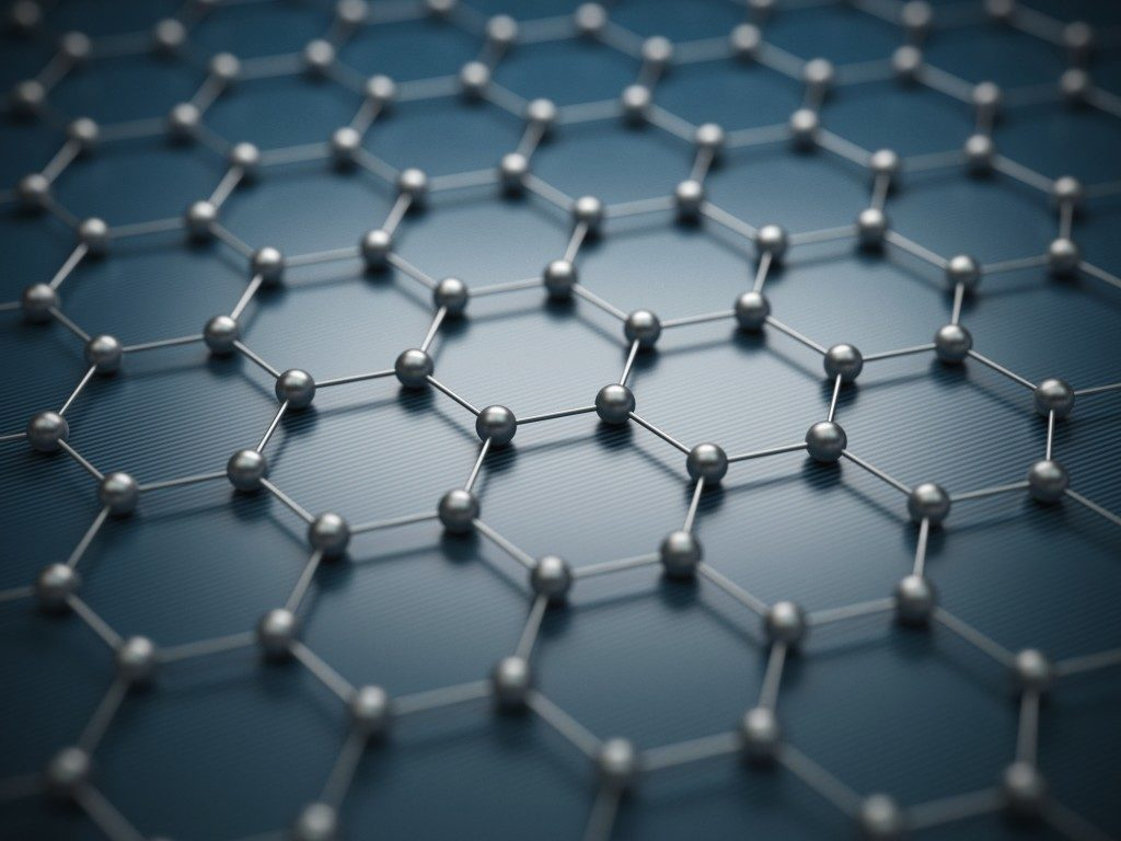 Graphene molecular grid. Used in making self healing concrete