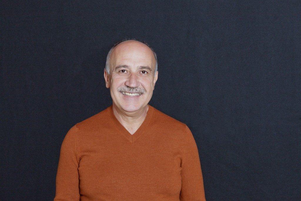 Man with bald spot