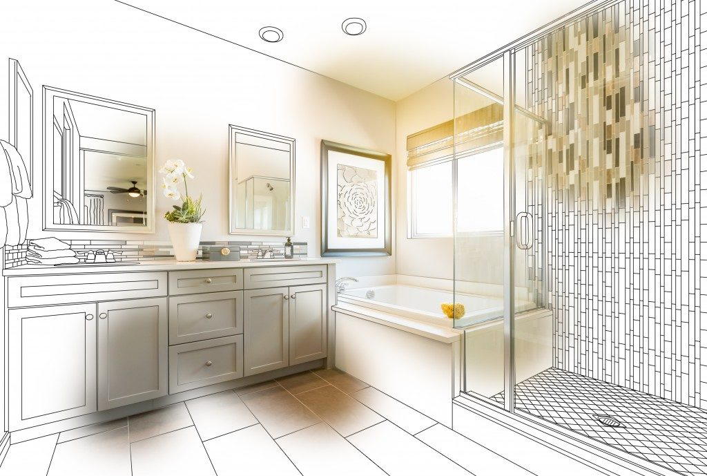 bathroom design plan