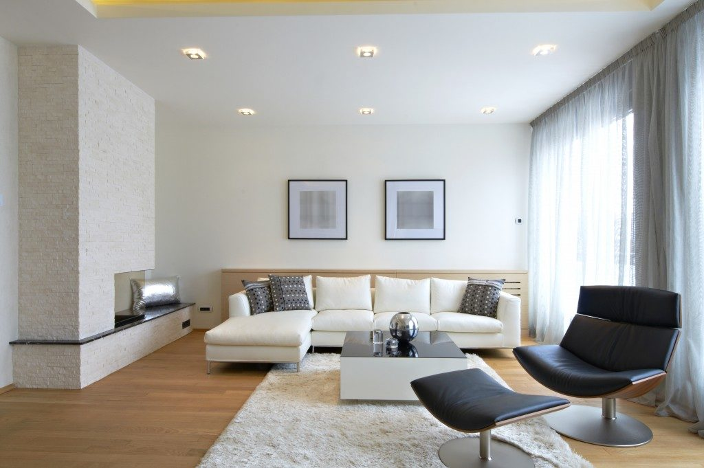 clean living room interior
