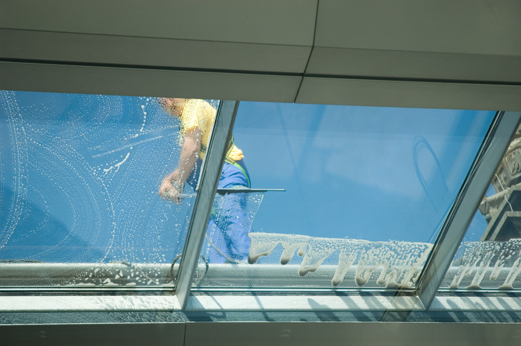 Professional cleaning windows