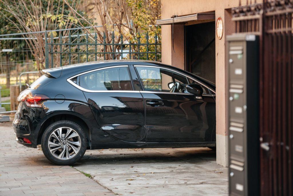 car parking in a garage