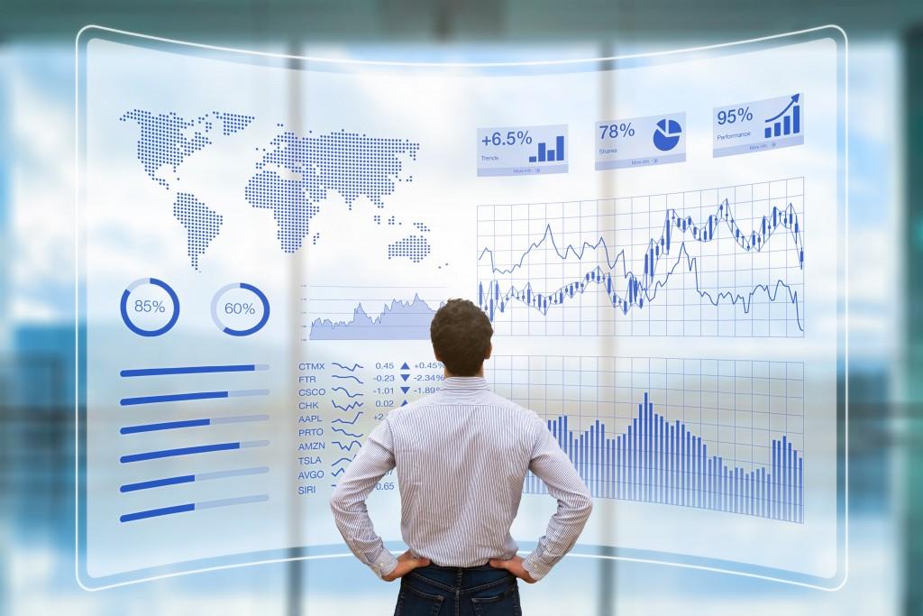 business man analyzing