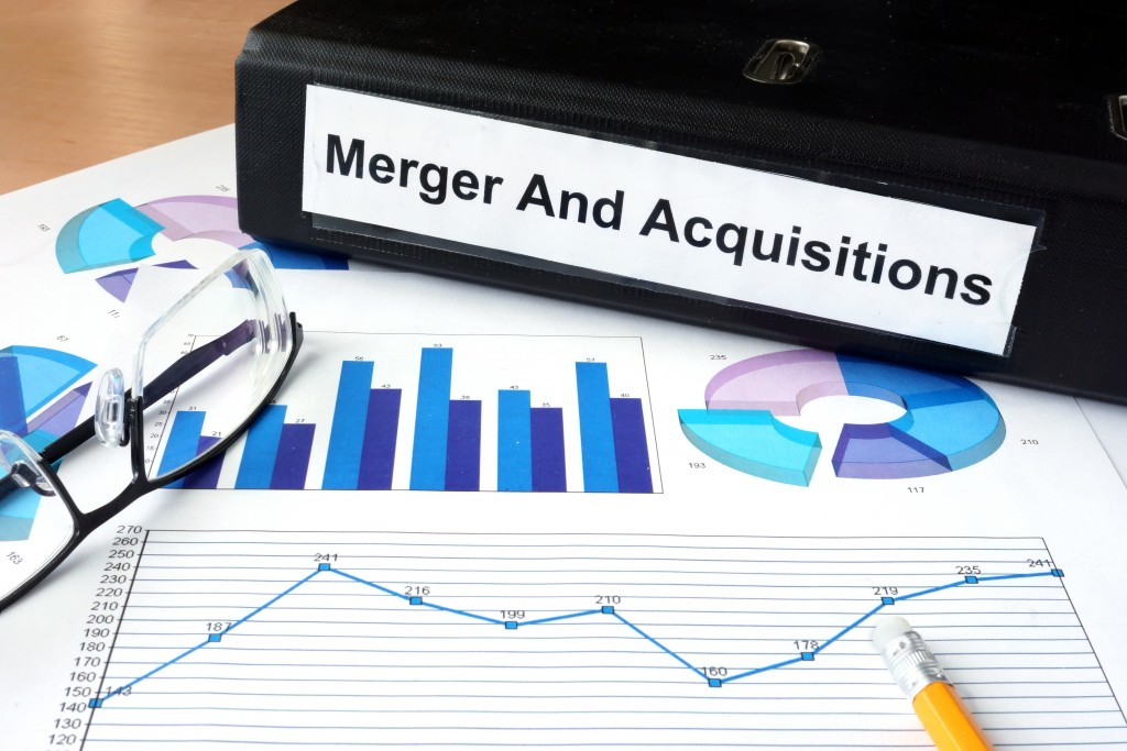 File folder with Merger and Acquisition