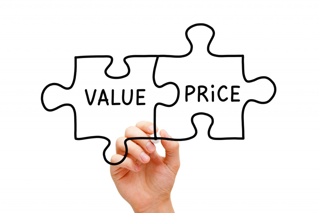value and price concept