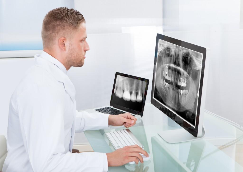 looking at dental xray