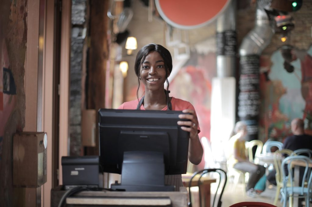 woman at the cash register