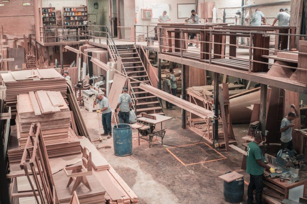 men at a wood workshop