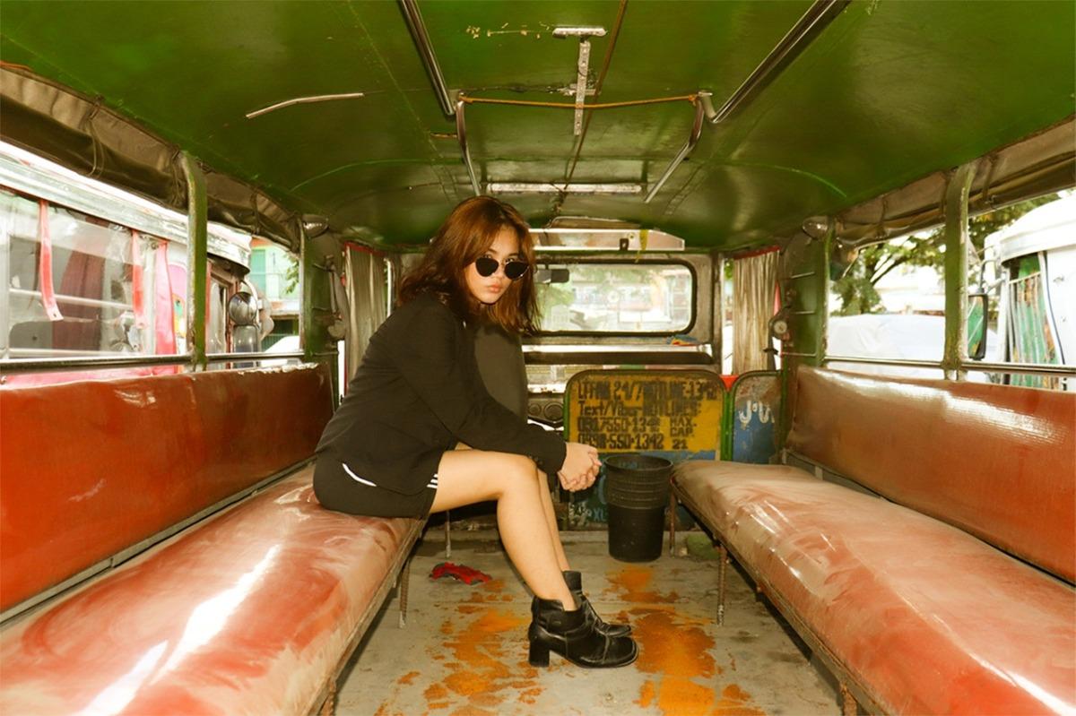 woman in a jeepney