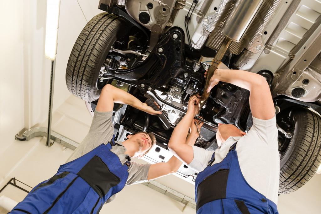 car repair underside